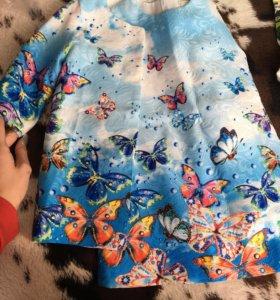 Пальто + платье для девочек