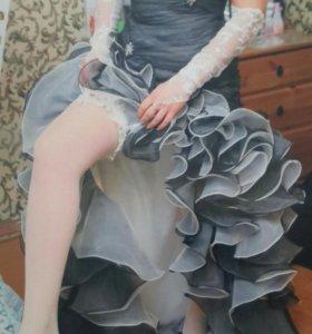Вечернее - свадебное платье