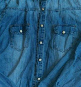 Джинсовая рубашка 44-46