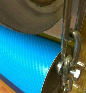 Виниловая пленка Карбон 4D голубой