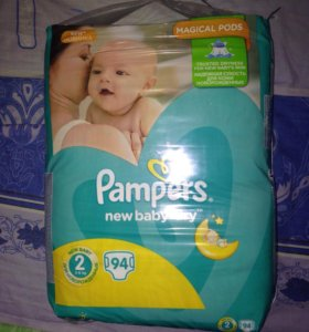 Pampers new baby dry 2 (94 штуки)