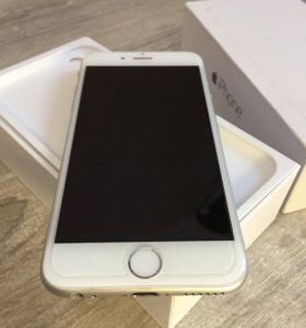 iPhone 6 Silver 16gb - отличное состояние