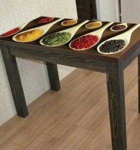 Стол обеденный с фотопечатью СкФД Специи