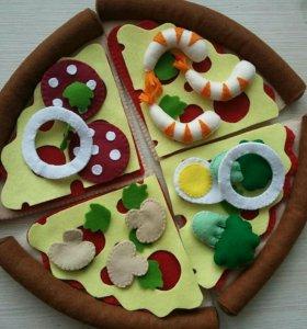 Развивающая игра из фетра пицца