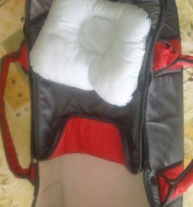 Переноска для ребёнка +ортопедическая подушка