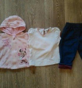 Disney кофта, джинсы 6-9 мес 68-74