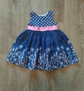 Платье как новое 6-9 мес 68-74 см