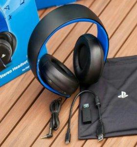 Sony Gold Wireless Stereo Headset Black 7.1