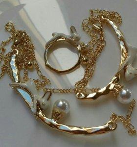 Ожерелье+браслет+кольцо