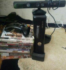 Xbox 360 slim 120gb+kinect