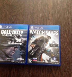 Комплект из игр Watch Dogs и Call of duty ghosts