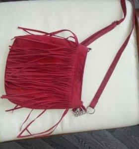 Женская бархатная сумка+ весенние ботинки