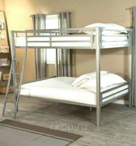 Металлическая двухъярусная кровать «Оliver 4»