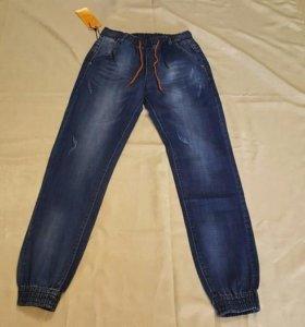 Джогеры джинсовые