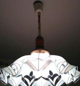Стеклянный абажур, светильник люстра