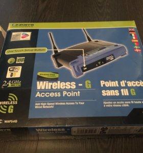 Linksys wireless-g (wap54g). Wi-Fi роутер.