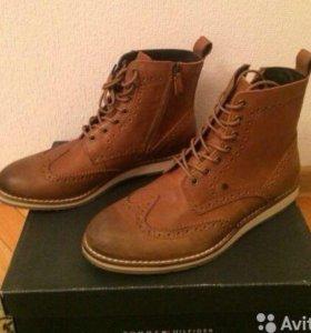Мужские кожаные ботинки Tommy Hilfiger(новые)