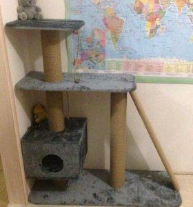 Многоуровневый домик для кошки. Когтеточка.
