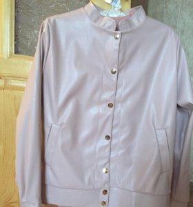 Куртка пиджак ветровка кожзам