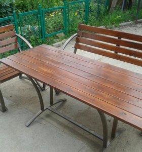 Скамейка и стол для дачи