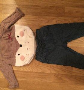 Детский комплект джинсы и свитер