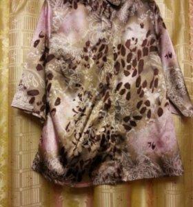 Кофта блузка 👚 розово-бежевая новая р. 52