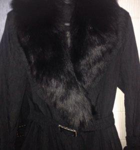 Куртка пальто с натуральным мехом