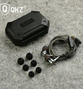 Новые наушники QKZ DM9 HiFi (Цинковый Сплав)