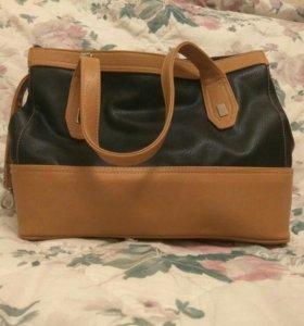 Черно- бежевая сумка