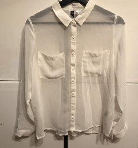 Прозрачная рубашка с длинным рукавом H&M