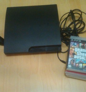 Sony PlayStation 3 Slim + 6 игр