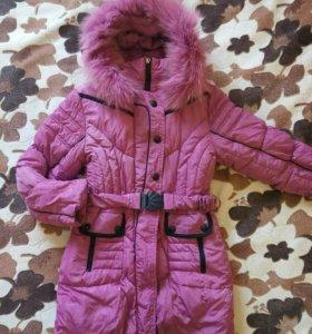 Пуховики и куртка на 7-10 лет