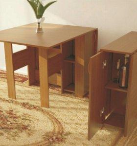 Универсальный стол книжка с встроеным баром!