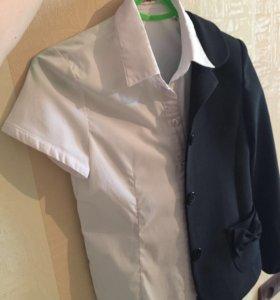 Детский пиджак и блуза