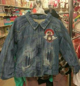Утепленная джинсовая куртка!!! Ликвидация товара