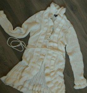 Кардиган, вязаное пальто, свитер, жакет