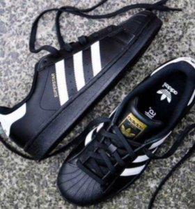 Adidas superstar натуральная кожа