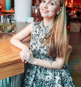 Платье бэби-дресс с нарядным воротником