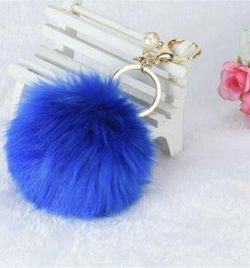 Брелок Меховой шарик Помпон