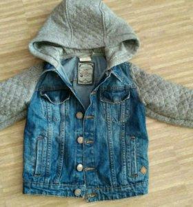 Куртка джинсовая, комбинированная zara boys collec