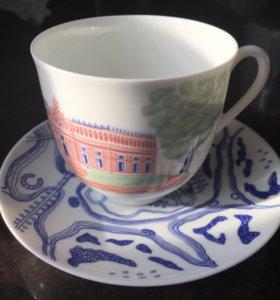 Новый набор : чашка с блюдцем ИМПЕРАТОРСКИЙ ФАРФОР