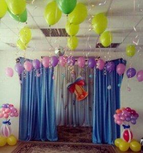 Оформление шарами детских садов и школ.
