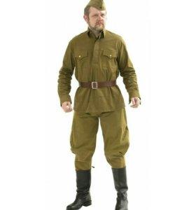 Форма солдата ВОВ (галифе и гимнастерка)