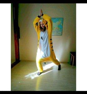 Пижама кигуруми kigurumi тигр костюм