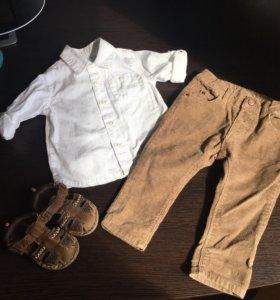 Рубашка и вельветовые штанишки Zara