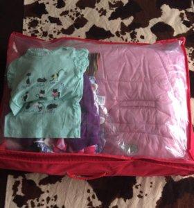 Пакет одежды для девочки, 25 предметов.