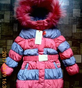 Новое зимнее пальто размер 104