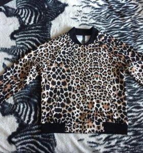 Бомбер леопардовый