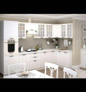 Кухня Прага 03 белое дерево МДФ