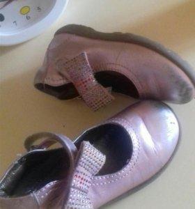 Итальянские нат.кожа туфли 16-16,5 см